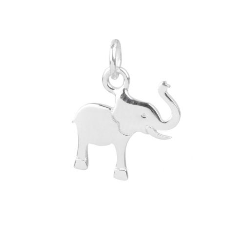 X-Sterling Silver 925 Elephant Charm 12.5x13mm Pk1