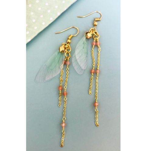How to make dragonfly earrings - jewellery making tutorial