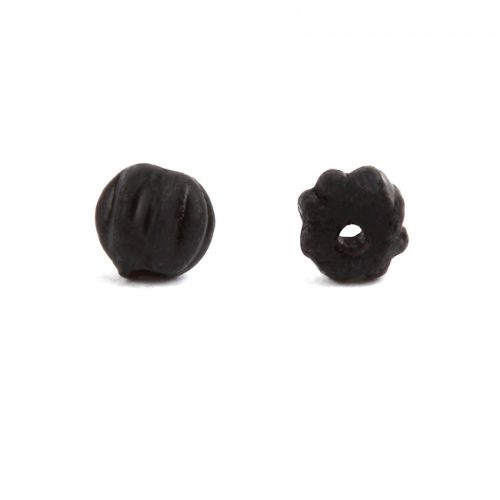 Frosted Jet Melon Round Beads 3mm Pk30