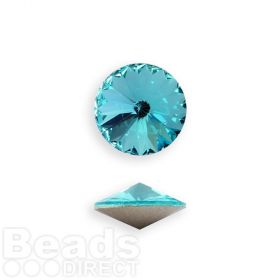 1122 Swarovski Crystal Rivoli SS39 8mm Light Turquoise F Pk2