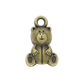 Teddy bear / charm pendant / 16x10mm / antique bronze / 4pcs