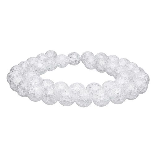 Ice crystal / round / 12mm / clear / 32pcs