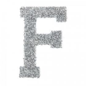 Swarovski Crystal Letter 'F' Self-Adhesive Fabric-It Transparent CAL Pk1