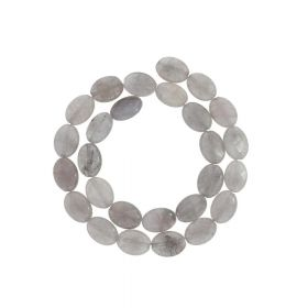 Agate / faceted oval / 14x10mm / grey / 26pcs