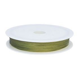 Jewellery wire / surgical steel / 0.38mm / gold / 43m