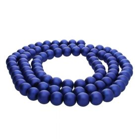 SeaStar™ satin / round / 10mm / deep blue / 85pcs