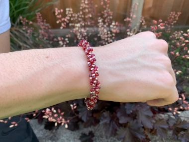 Two Tone Single Spiral Bracelet - Jewellery Making Tutorial