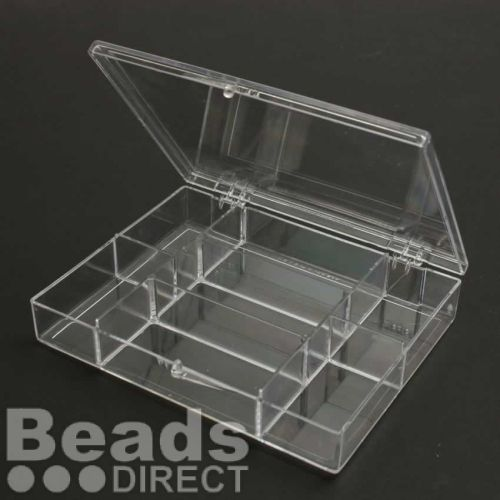Storage Box Clear Acrylic 7 Compartments