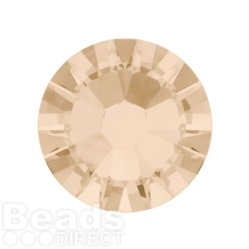 2088 SWarovski Crystal Flat Backs Non HF 7mm SS34 Light Silk F Pk144