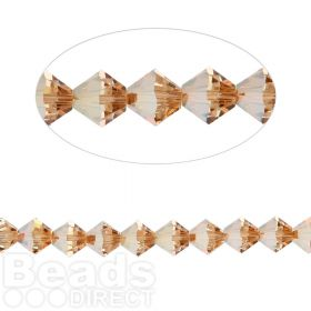 5328 Swarovski Crystal Bicones Xillion 3mm Crystal Metallic Sunshine Pk24