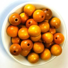 Preciosa Wood Beads 12mm Yellow/Orange Pk50
