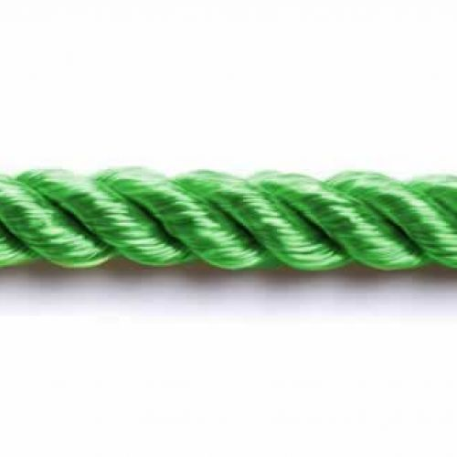 Rayon Twisted Cord 6mm Kelly Green 1metre