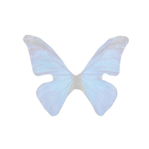 Butterfly wings / organza / 33x43mm / bright blue / 4pcs