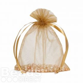 "Gold Organza Bag 5""x6.5"" Pack 5"