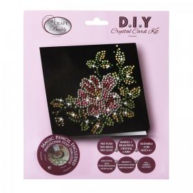 Beads Direct Flower & Leaves Black Crystal Card Kit