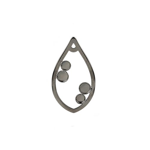 Gunmetal Plated Drop Pendant SS16/SS20 Holds Crystal 22x38mm Pk1