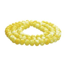 Candy™ / rondelle / 4x6mm / yellow / 140pcs
