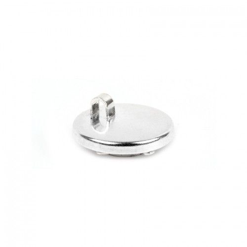 X-Sterling Silver 925 Fancy Disk Charm Holds Crystal 15mm Pk1