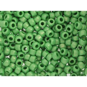 TOHO™ / Round 6/0 / HYBRID Sueded Gold Opaque / Green Mint / 10g