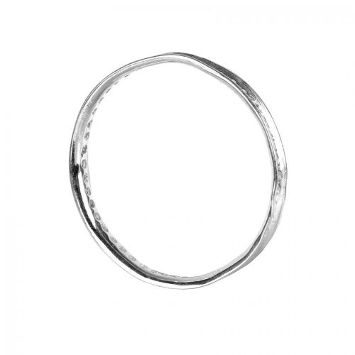 Antique Silver Round Bead Frame 30mm Pk1