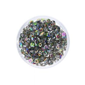 SuperDuo™ / glass beads / 2.5x5mm / Vitral / Crystal / 10g / ~140pcs