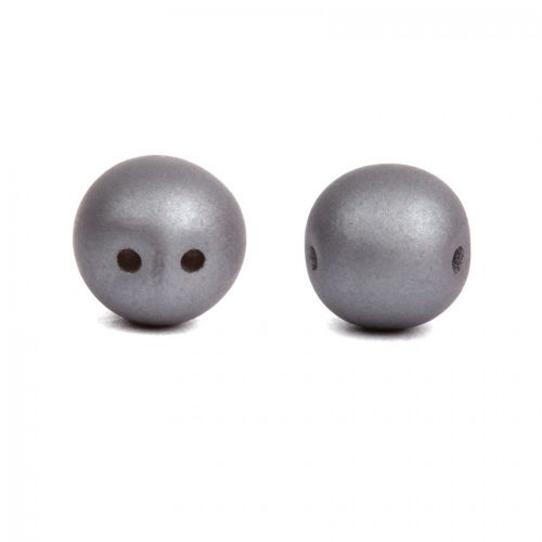 Dobble Czech Glass Beads Matte Metallic Steel 8mm Pk20