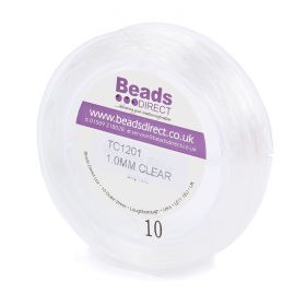 Clear Elastic Stringing Cord 1mm 25 metre Reel