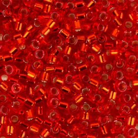 Miyuki Delica Size 11 Beads Silver-Lined Cranberry 5g