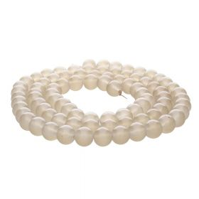 MIST ™ / round / 8mm / dark beige / 105pcs