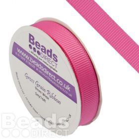Hot Pink Grosgrain Ribbon 9mm Sold on a 5 Metre Reel
