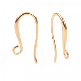 Gold Plated Brass Earring Hook 12x22mm 1xPair