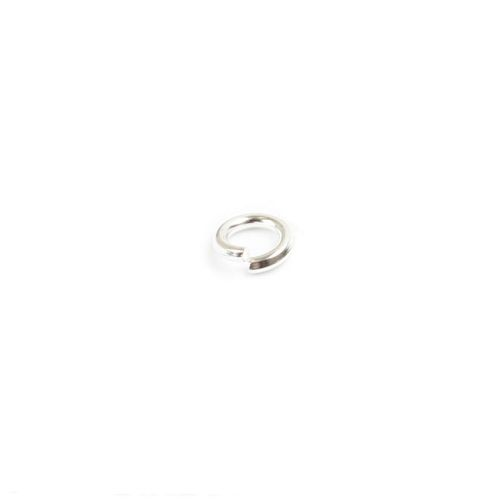 Silver Plated Jump Rings 4mm 0.8mm Pk50