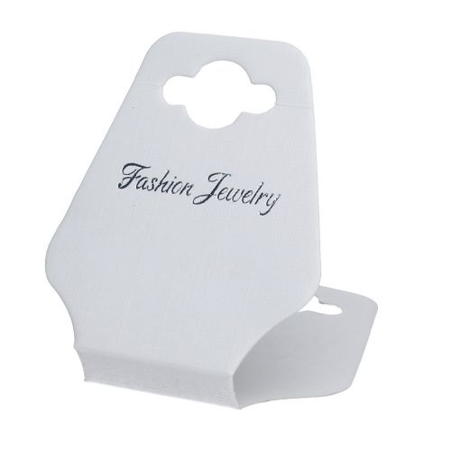 Labels for jewellery / foldable / 8cm / white / 20pcs