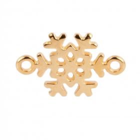 Gold Plated Zamak Snowflake Connector 13x19mm Pack of 1