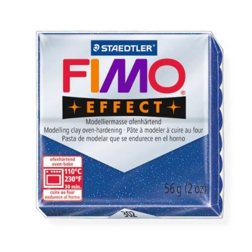 Staedtler Fimo Effect Polymer Clay Glitter Blue 56g (1.97oz)