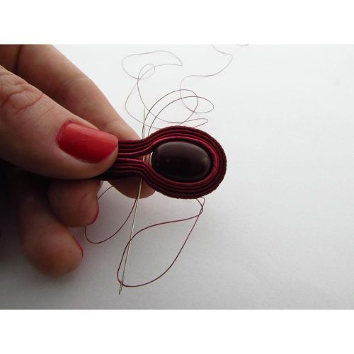 One-G ™ / nylon thread for beads / burgundy / 0.2mm thick / 46m