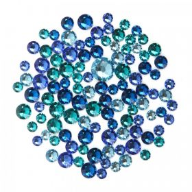 """X"" 2078 Swarovski Crystal Hotfix Blue Mix 5g"