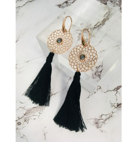 How to make filigree tassel earrings - Tassel Tutorial