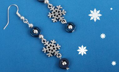 Hematite Snowflake Earrings | Mini-Make