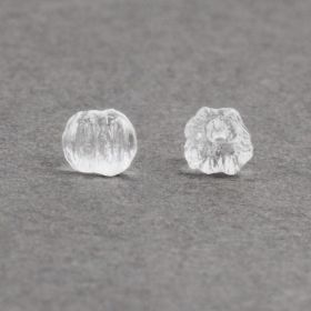 Crystal Clear Melon Round Beads 3mm Pk30