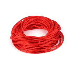 Bright Red/Orange 2mm Rattail Satin Cord 10metres