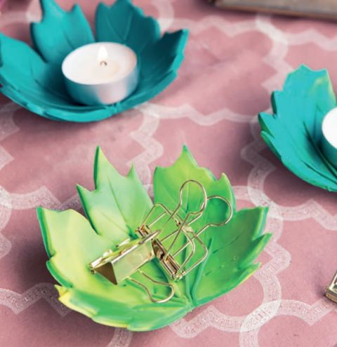 Fimo Leaf Tea Light Dish