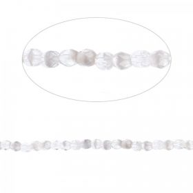 Preciosa Czech Fire Polished Beads 4mm Clear and Grey Pk100