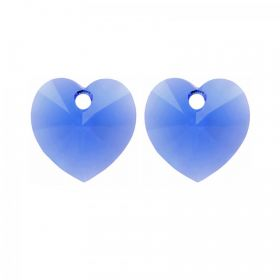6228 Swarovski Crystal Heart Charm 10mm Majestic Blue Pk2