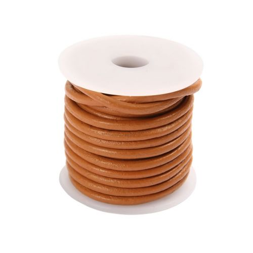 Tan Round Leather 2mm Cord 5 Metre Reel