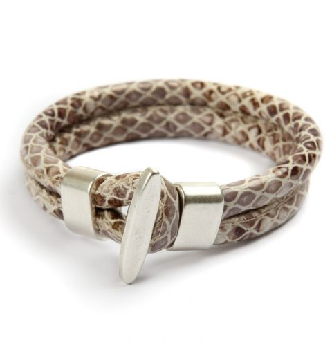 Eco Leather Snake Hook Bracelet