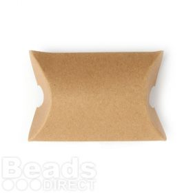 Small Natural Brown Pillow Gift Box 7x6x2.5cm Pk1