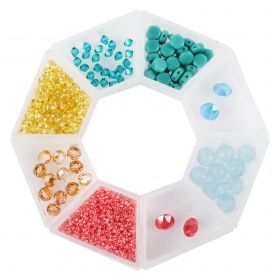 Beads Direct 'Summer' Bead and Crystal Selection with Storage Ring