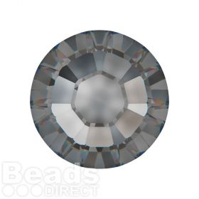 2078 Swarovski Crystal Hotfix Round 7mm SS34 Crystal Silver Night A HF Pk144