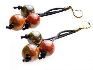 Ceramic and Leather Earrings - Beginners Jewellery Tutorial